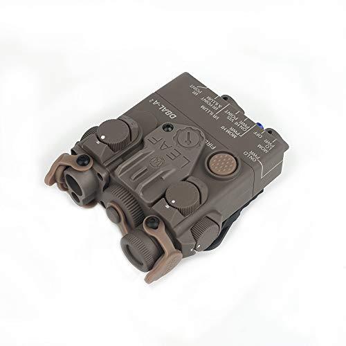 WADSN Airsoft PEQ DBAL-A2 LED-Jagdtaschenlampe mit weißem Licht und Blitz, Druckknopf / Schalter 2 Mode Dummy Case QD Halterung für 20mm Schiene, Outdoor Waffengewehr DBAL A2 Dummy Batteriefach PEQ