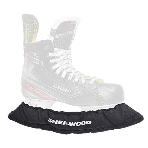 SHER-WOOD - Senior Pro Eishockey elastische Kufenstrümpfe für Eishockey- & Schlittschuhe, 2 Stück, schwarz