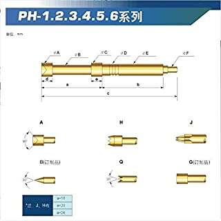 NO LOGO L-Yune, 100PCS / Pack Sonde de Test de Carte PCB PH-2A B D G PH-2H E Q Q1 (Couleur : PH 2Q1)