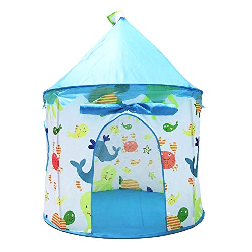 Benebomo Kids play tents yurt Childrens tent house,Childrens teepee,Pop-up Play tents for baby,Baby tents,Infant play house garden tent,with a carrying bag,Foldable