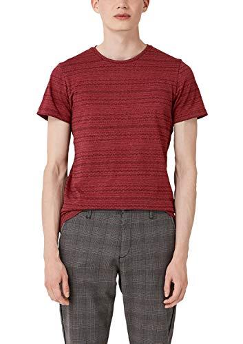 Q/S designed by - s.Oliver Herren 40.909.32.5360 T-Shirt, Blau (Indigo 31w0), M