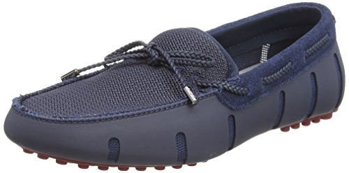 Swims Herren Braided Lace Lux Loafer Driver Slipper, Blau (Navy/Deep Red), 42.5 EU