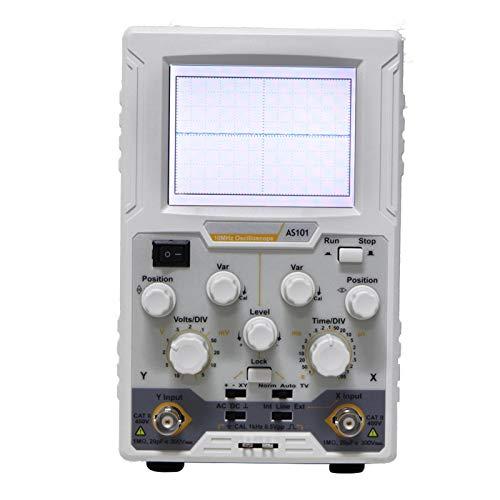 Osciloscopio 100MS / s Panel de control simple Osciloscopio digital con pantalla LCD a color de 3,7 pulgadas para(European regulations)