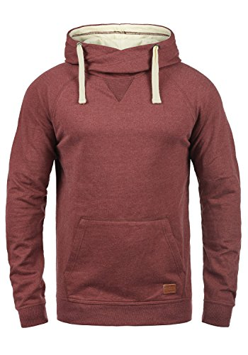 Blend Sales Herren Kapuzenpullover Hoodie Pullover mit Kapuze, Größe:L, Farbe:Wood Red (73819)
