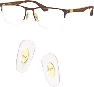 HEYDEFO Replacement Push-in Nose Pads for Ray-Ban RB6335 Glasses Repair Kits,Bonus Lens Cloth (Gold)