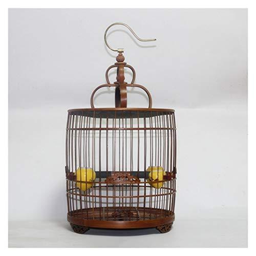 JKXWX Gabbia per Uccelli Gabbia per Uccelli bambù Gabbia per Uccelli Fatti a Mano Bird Bird Nest Cinese Cinese Cinese Cinese Artigianato Pet Product Bird House Gabbia Voliera