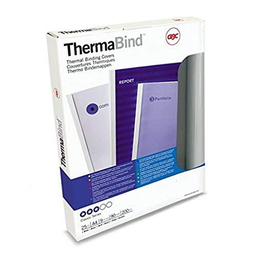 GBC 45442 - Carpeta térmica 6 mm CROMOLUX 700 DIN A4 portada PVC 150 micras contraportada cartulina 250 grs (caja 25) color blanco