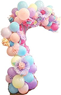 Fonder Mols DIY Pastel Balloons Garland Kit with Flowers 107pcs Assorted Macaron Candy Colored Latex Party Arch Balloons f...