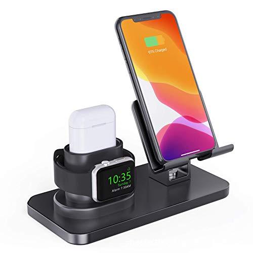 El soporte de carga inalámbrico tres en uno de escritorio modelo caliente de es adecuado para el soporte integrado de teléfonos móviles, relojes y auriculares de Apple