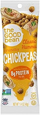 The Good Bean Chickpeas Snacks Grab Go Classic Hummus 1 4 Ounce 10 Count product image