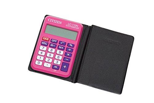 Citizen LC-110NPK - Calculadora (bolsillo, Batería, Basic calculator, Rosa, CR2032)