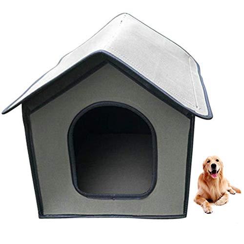 KENANLAN Katzenhaus Für Draußen Winterfest,Outdoor Katzenhöhle Für Katzen,Pet Outdoor House Wasserdichtes Wetterfestes Katzenhaus Faltbares Tierheim Für Haustiere