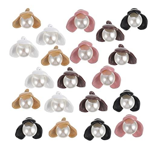 VALICLUD 20 Piezas de Botón de Costura de Flores de Broche Redondo de Papel de Perlas para El Proyecto Escolar de Artesanía de Arte Scrapbooking Decoración de Ropa