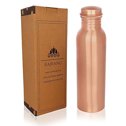 Pure Copper Water Bottle 34 oz - Leak Proof Design Vessel Ayurveda Health Pitcher for Sport, Fitness, Yoga 1000ml