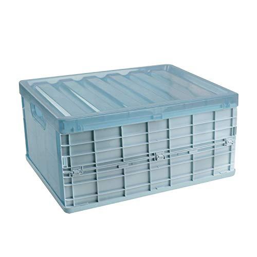 SOSTUDIO Aufbewahrungsboxen Stapelbox mit Deckel Klapp Transport Ordnung Korb aufbewahrung kisten Storage Organizer Box für Schuh Spielzeug, Einkaufen, Kosmetik Wäsche