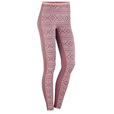 Kari Traa Women's Floke Base Layer Bottoms - Merino Wool Blend Thermal Pants Petal Large
