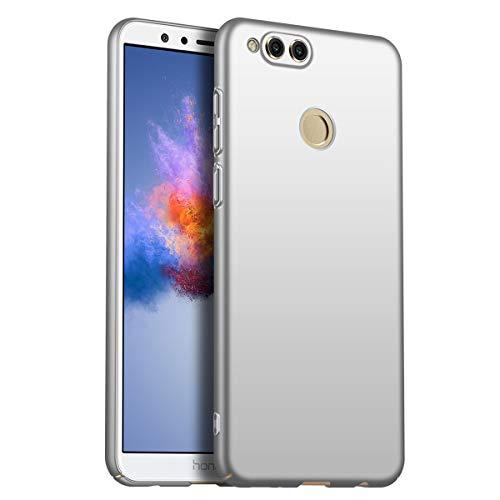 Compatible con Huawei Honor 7X ultra delgada, ultra delgada Hard PC móvil funda antigolpes Carcasa rígida antihuellas Carcasa Carcasa para Huawei Honor 7X (Plata)