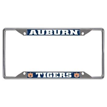 FANMATS 14787 NCAA Auburn University Tigers Chrome License Plate Frame,6.25 x12.25