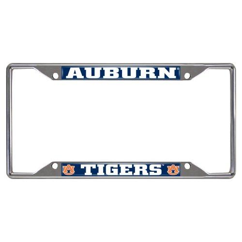 "FANMATS 14787 NCAA Auburn University Tigers Chrome License Plate Frame,6.25""x12.25"""