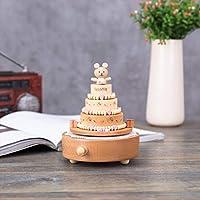 オルゴールギフト風車、木製工芸品、有名な建築オルゴール、木製オルゴール、家の装飾、家のクリスマスの装飾1513