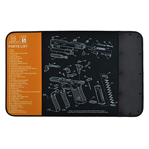 BOOSTEADY Non-Slip Gun Cleaning Mat for Glock, Thick...