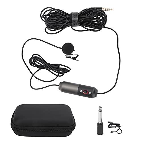 01 Micrófono de Solapa para teléfono, micrófono de Solapa con Mini micrófono de Solapa para el hogar para conferencias