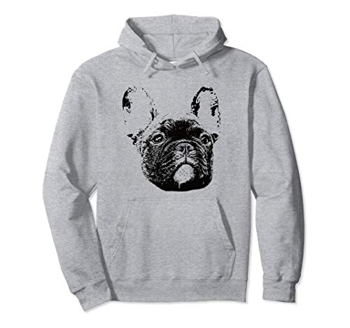 Frenchie Face Hoodie - Dog Mom or Dad Christmas Gift