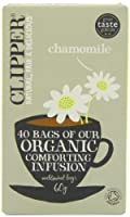 Clipper Teas - Chamomile Organic Comforting Infusion - 40 Bags (Case of 6)