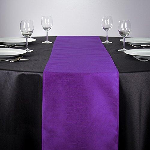 LinenTablecloth Shantung-Seide Tischläufer, 35,6x 274,3cm violett