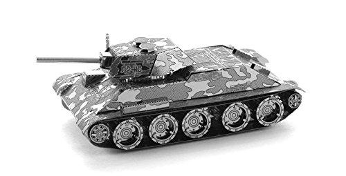 Fascinations Metal Earth MMS201 - 502458, T34 Panzer, Konstruktionsspielzeug, 2 Metallplatinen, ab 14 Jahren