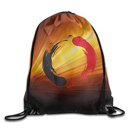 uykjuykj Bolsos De Gimnasio,Mochilas,Unisex Drawstring Bags Karate Portable Home Sports Fitness Backpack Gymsack color1 Lightweight Unique 17x14 IN