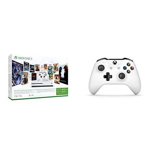 Microsoft Xbox One S - Consola 1 TB + Microsoft - Mando Inalámbrico: Amazon.es: Videojuegos