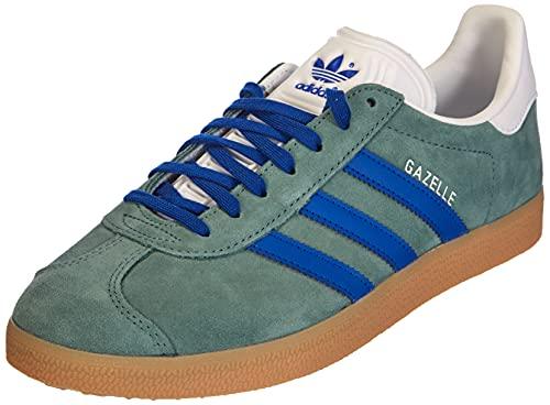 adidas Gazelle, Sneaker Hombre, Hazy Emerald/Team Royal Blue/Gum, 45 1/3 EU