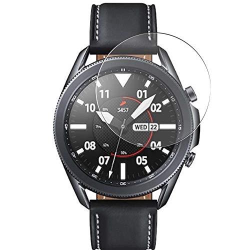 Vaxson 3 Unidades Protector de Pantalla de Cristal Templado, compatible con SAMSUNG galaxy watch3 watch 3 45mm, 9H Película Protectora Film Guard Nueva versión