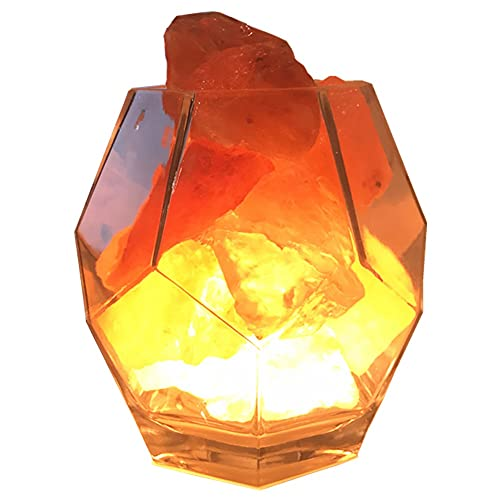 XLEVE Lámpara de Sal de Cristal Himalayan Moderna Caliente Romántico de Regalo Dormitorio Lámpara de Cama Lámpara de Mesa Luz de Noche