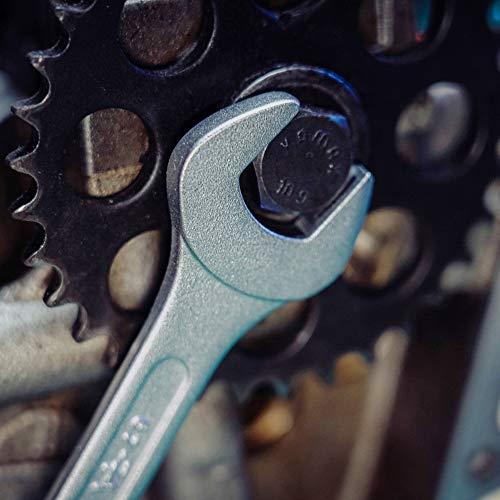 Extra Grosses Ring-Maulschlüssel Set 26tlg. 6-32mm von WIESEMANN 1893 I Schraubenschlüssel Satz im Werkzeug Halter I mit 15° abgewinkelte Ringseite für einfacheres Arbeiten I 80270 - 4