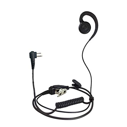 ProMaxPower Two Way Radio Swivel Headset Earpiece PTT for Motorola CP88 CP100 CP200D CLS1110 CLS1410 (1 Pack)