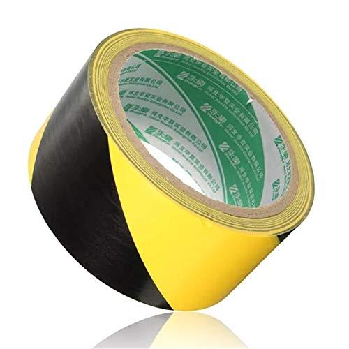 Jasmin FS PVC-Rolle Selbstklebendes Warnband Dekorative Band 18m x 48mm Verpackungs Band (Farbe : Black+Yellow)