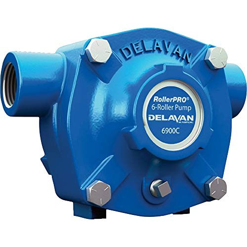 Delavan Cast Iron 6-Roller Pump - 20 GPM, 300 PSI, 1,200 RPM Model Number 6900C