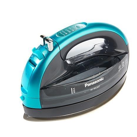 Panasonic 360º Freestyle Advanced Ceramic Cordless Iron, Pest Repeller v.57, Teal