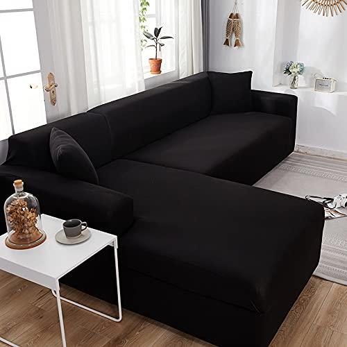 WXQY Sala de Estar Funda de sofá ordinaria Funda de sofá de Spandex elástica Funda de sofá de Esquina en Forma de L elástica Funda de sofá Envuelta herméticamente A1 4 plazas