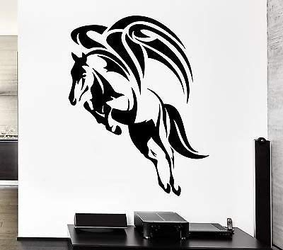 Wall Decal Wings Flying Horse Pegasus Mythology Ancient Vinyl Stickers VS252