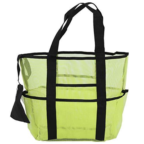 FOKH Organizador de Playa, Bolso de Playa Duradero para Viajes en Familia(Green)