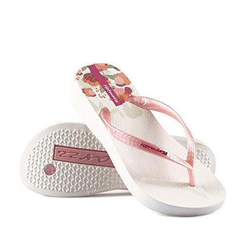 GYCZC Flip-Flops Weibliche Sommerkleidung Mode rutschfeste Dicke Strand Prise PVC Hausschuhe