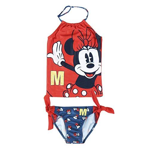 Cerdá Bañador Niña Minnie Mouse de 2 Piezas-4 Años, Rojo, Niñas