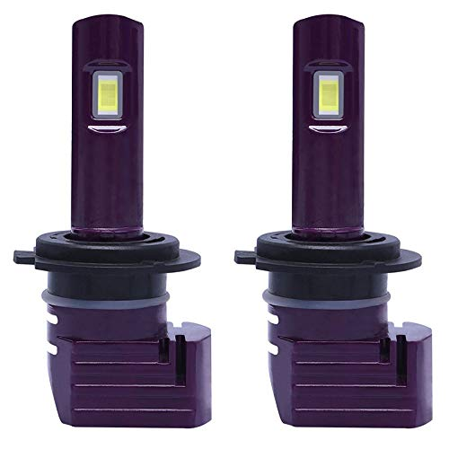 Mogzank 1 Par PúRpura X11 LED Bombillas para Faros Delanteros de Coche LáMparas LED para Coche H7 con 8000K 1860 Chip LED CSP 72W 10000LM