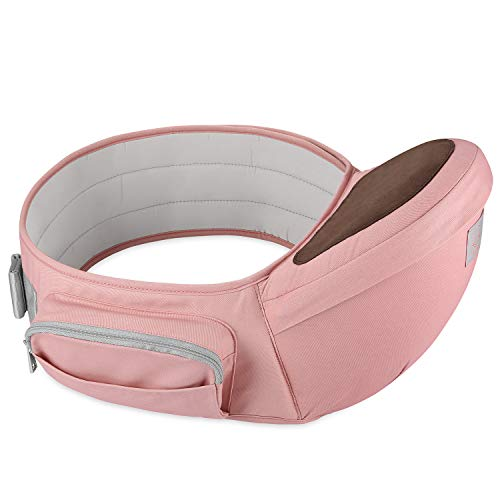 GAGAKU Portabebé Taburete de Cintura para Bebé 0-36 Meses Recién Nacido - Rosa