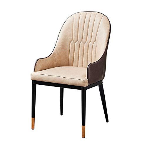 Huishouden met rugleuning met armleuning eetkamerstoel, vrije tijd kruk bureaustoel Coffee Shop stoel, Nordic modern, minimalistische stijl stoel A+ beige