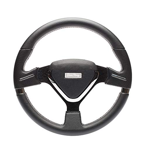 Simoni Racing MONT35/P volante deportivo, negro