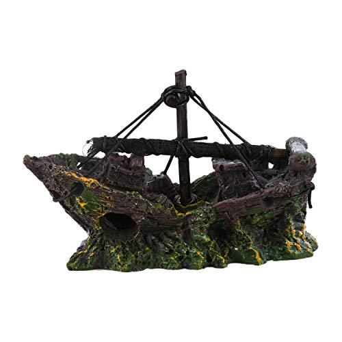 TOOGOO(R) Ornamento Acuario Barco de Pesca del Ornamento del Acuario Decoracion para...